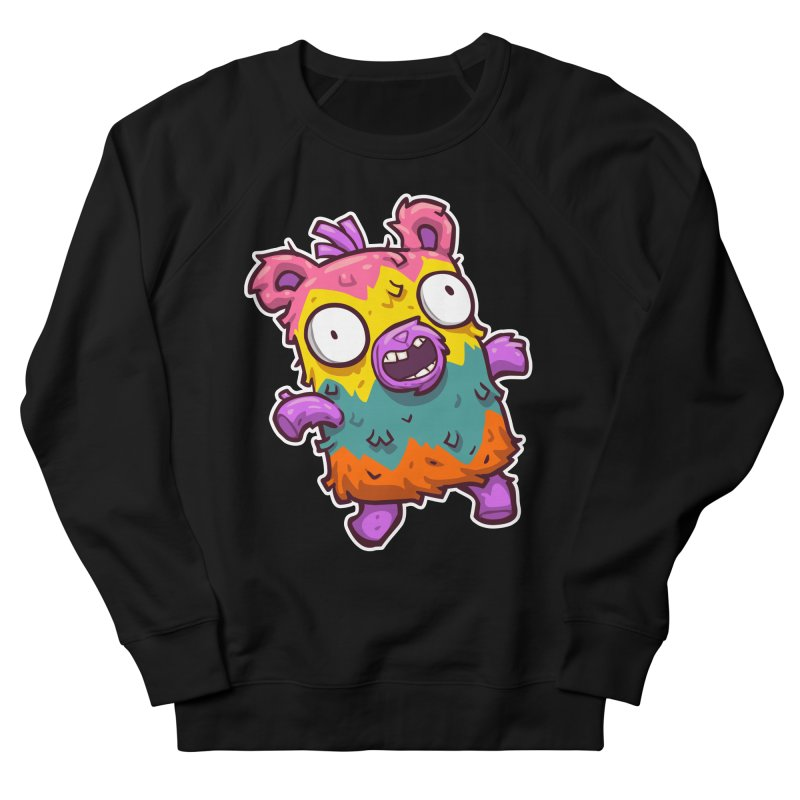 Burrito Bison - Punched Piñata Women's French Terry Sweatshirt by The Juicy Beast shop!