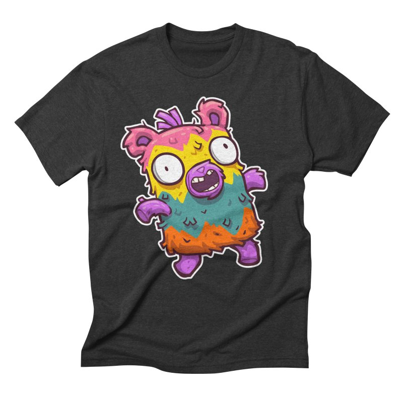 Burrito Bison - Punched Piñata Men's Triblend T-Shirt by The Juicy Beast shop!