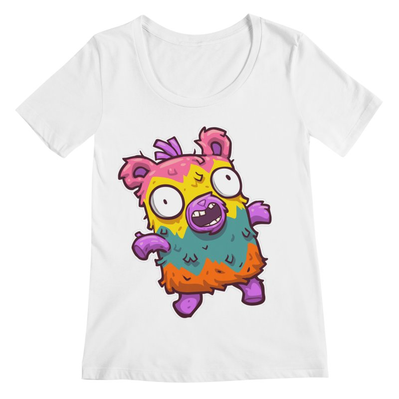 Burrito Bison - Punched Piñata Women's Regular Scoop Neck by The Juicy Beast shop!