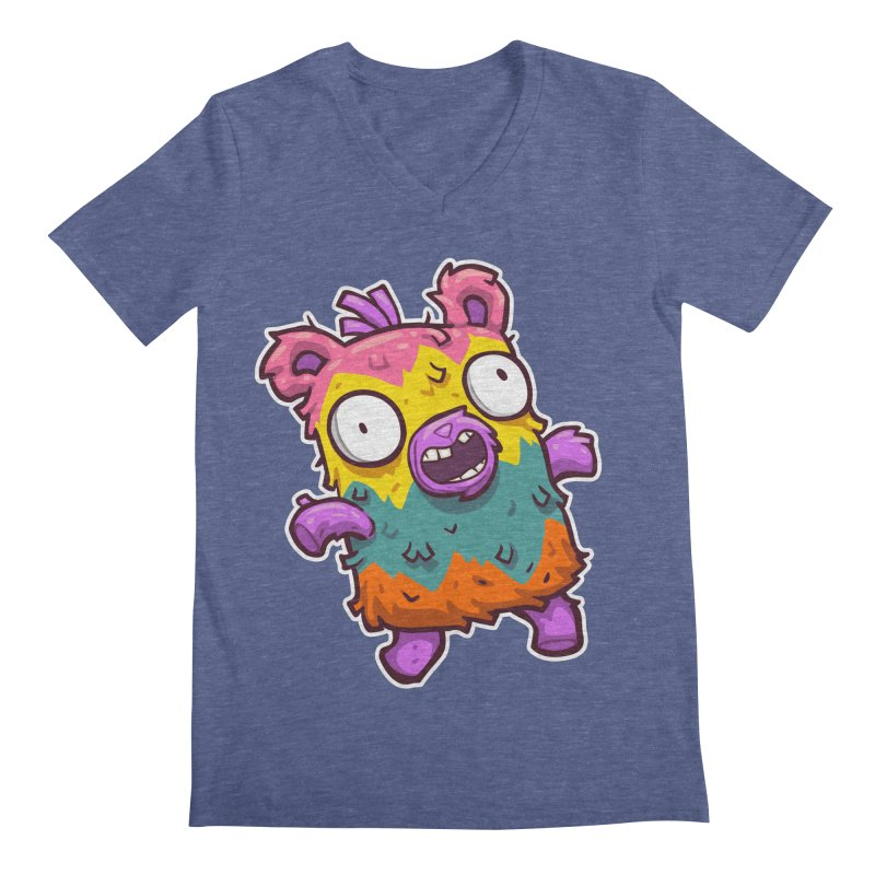 Burrito Bison - Punched Piñata Men's Regular V-Neck by The Juicy Beast shop!