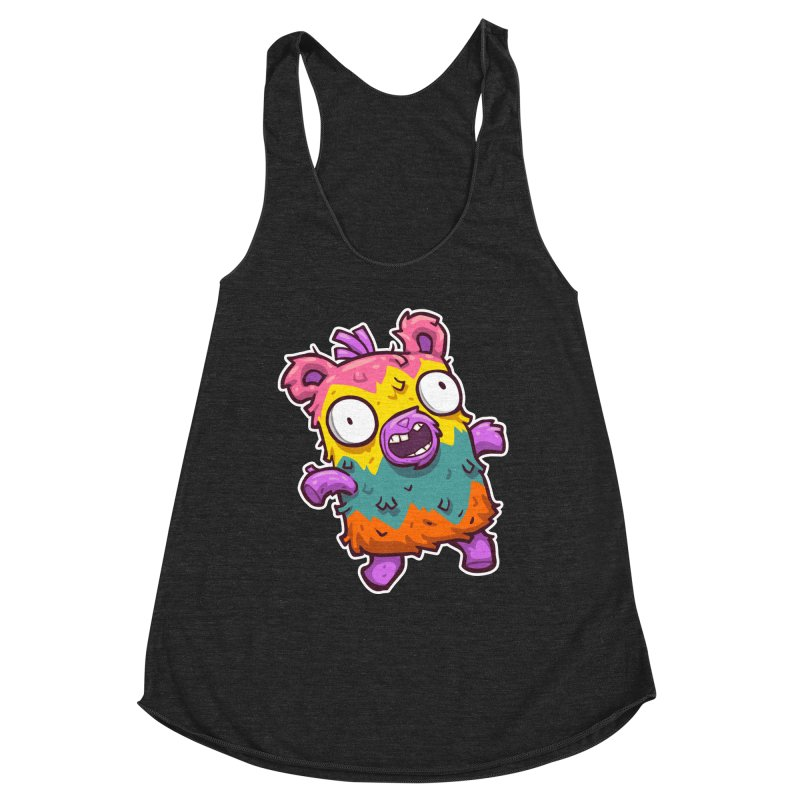 Burrito Bison - Punched Piñata Women's Racerback Triblend Tank by The Juicy Beast shop!