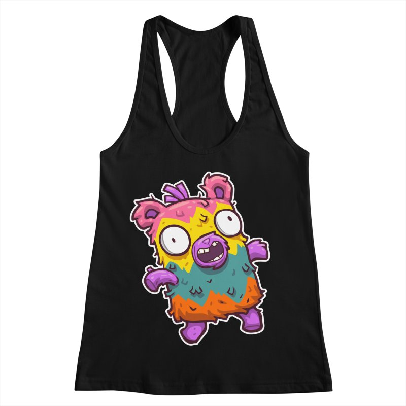 Burrito Bison - Punched Piñata Women's Racerback Tank by The Juicy Beast shop!