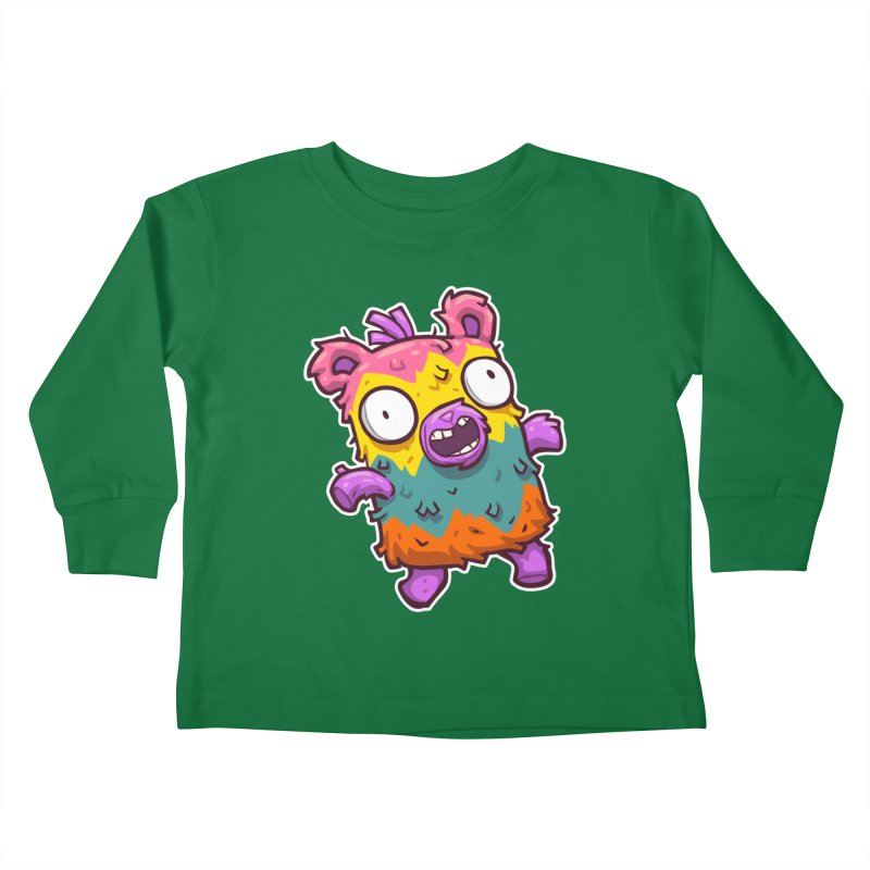 Burrito Bison - Punched Piñata Kids Toddler Longsleeve T-Shirt by The Juicy Beast shop!