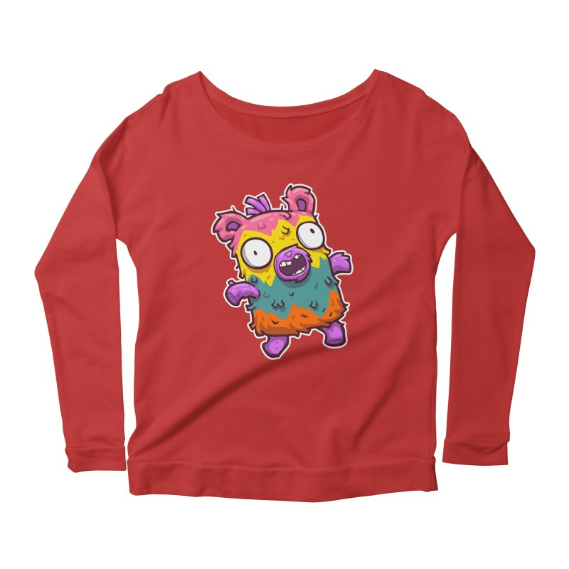 Burrito Bison - Punched Piñata Women's Scoop Neck Longsleeve T-Shirt by The Juicy Beast shop!