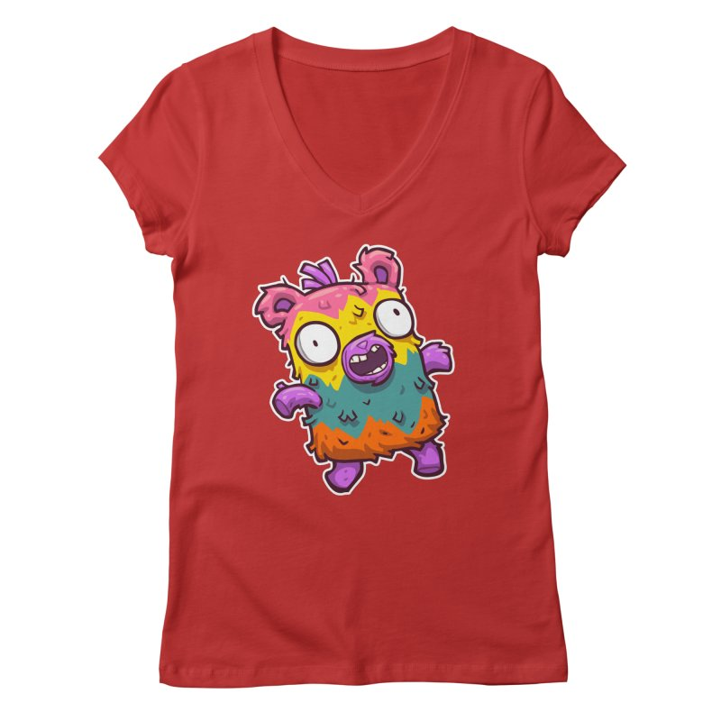 Burrito Bison - Punched Piñata Women's Regular V-Neck by The Juicy Beast shop!