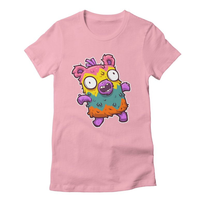 Burrito Bison - Punched Piñata Women's Fitted T-Shirt by The Juicy Beast shop!