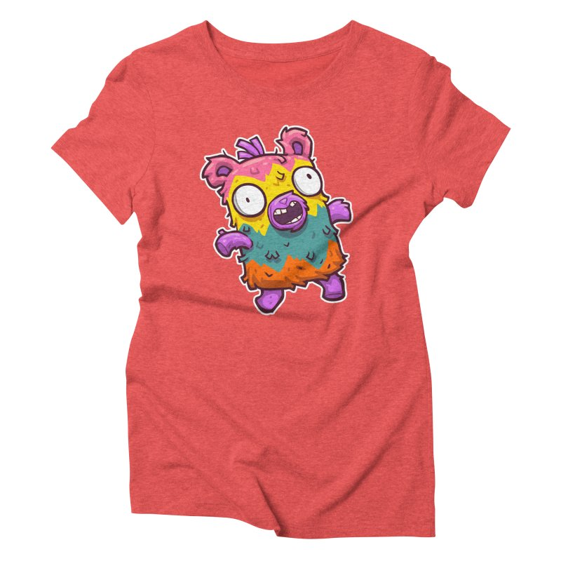 Burrito Bison - Punched Piñata Women's Triblend T-Shirt by The Juicy Beast shop!
