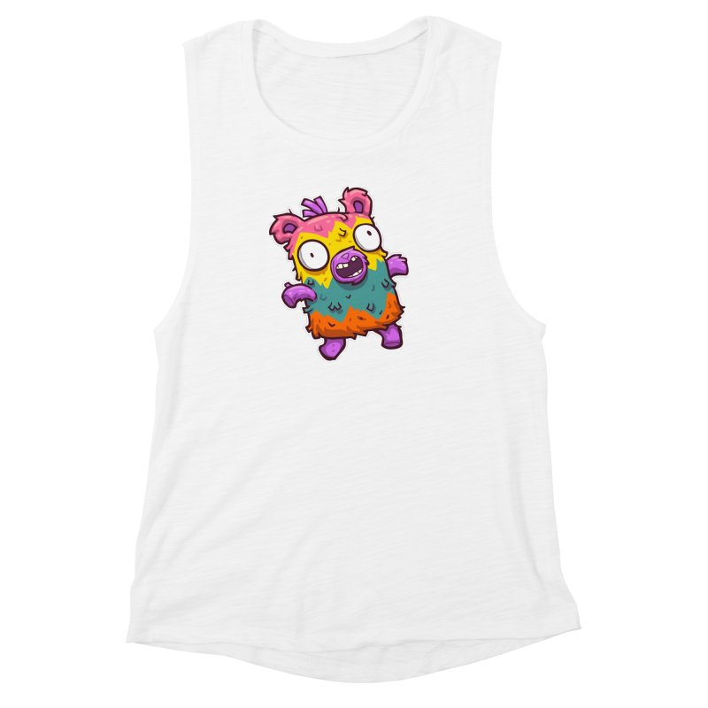 Burrito Bison - Punched Piñata Women's Muscle Tank by The Juicy Beast shop!