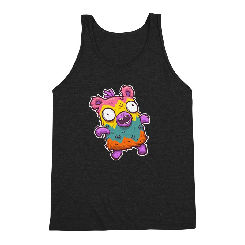 Burrito Bison - Punched Piñata Men's Triblend Tank by The Juicy Beast shop!