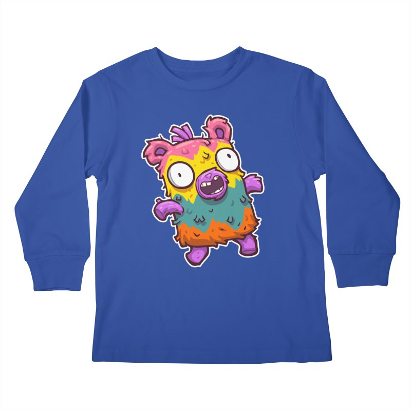 Burrito Bison - Punched Piñata Kids Longsleeve T-Shirt by The Juicy Beast shop!