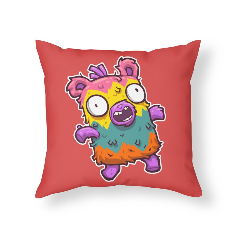 Burrito Bison - Punched Piñata Home Throw Pillow by The Juicy Beast shop!