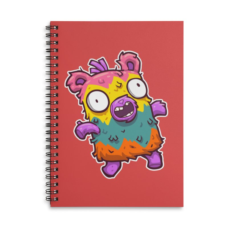 Burrito Bison - Punched Piñata Accessories Lined Spiral Notebook by The Juicy Beast shop!
