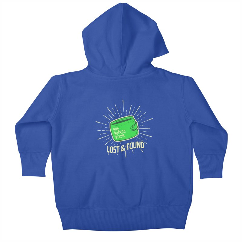Burrito Bison - Lost & Found Kids Baby Zip-Up Hoody by The Juicy Beast shop!