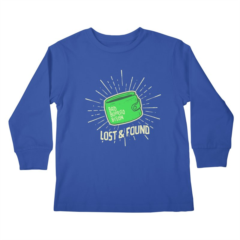 Burrito Bison - Lost & Found Kids Longsleeve T-Shirt by The Juicy Beast shop!