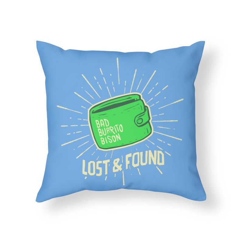 Burrito Bison - Lost & Found Home Throw Pillow by The Juicy Beast shop!