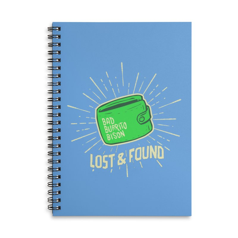 Burrito Bison - Lost & Found Accessories Lined Spiral Notebook by The Juicy Beast shop!