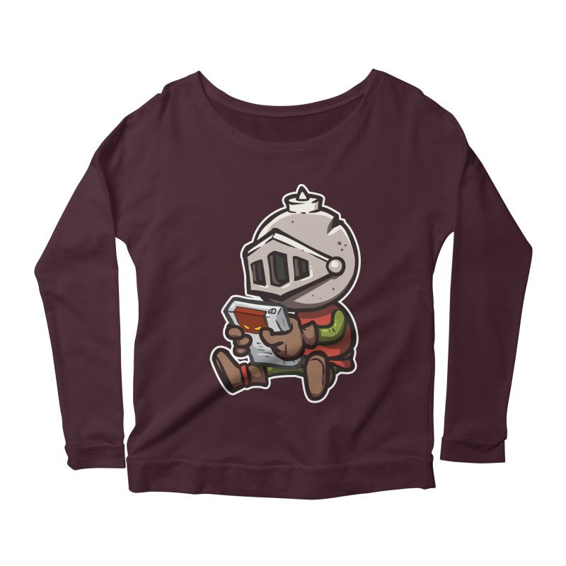 Knightmare Tower - Retro Gaming Women's Scoop Neck Longsleeve T-Shirt by The Juicy Beast shop!