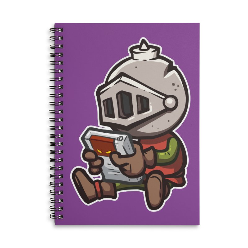 Knightmare Tower - Retro Gaming Accessories Lined Spiral Notebook by The Juicy Beast shop!