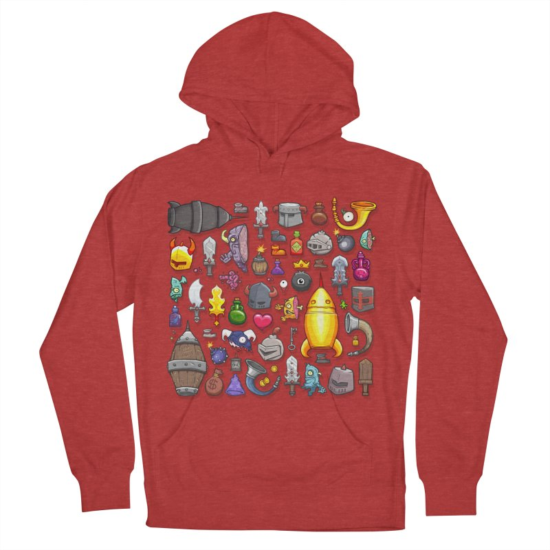 Knightmare Tower - Inventory Men's French Terry Pullover Hoody by The Juicy Beast shop!