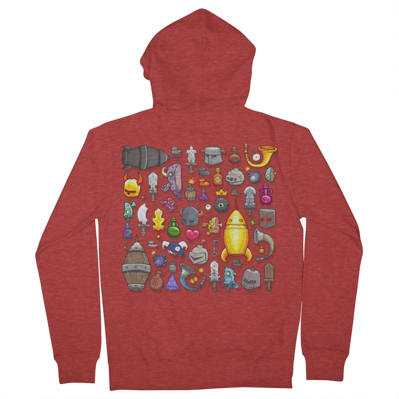 Knightmare Tower - Inventory Women's French Terry Zip-Up Hoody by The Juicy Beast shop!