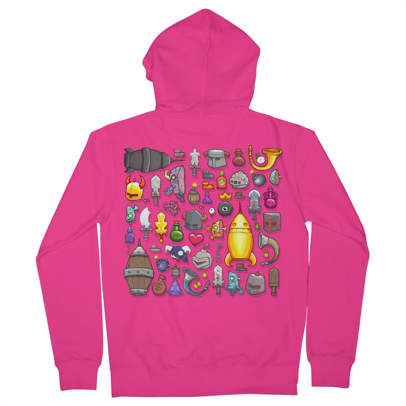 Knightmare Tower - Inventory Men's French Terry Zip-Up Hoody by The Juicy Beast shop!
