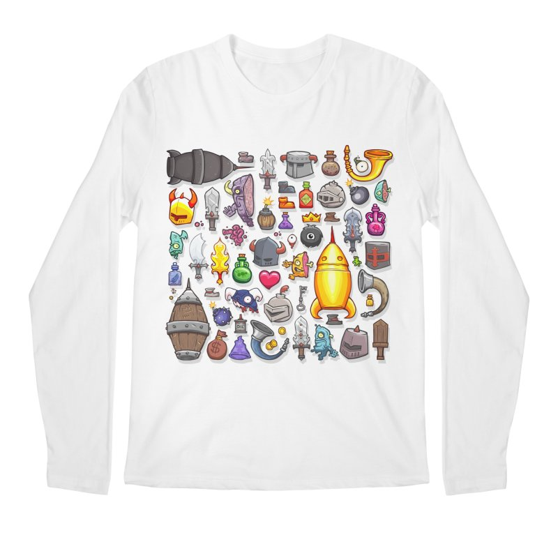 Knightmare Tower - Inventory Men's Regular Longsleeve T-Shirt by The Juicy Beast shop!