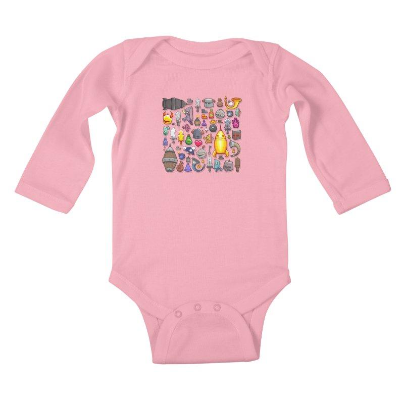 Knightmare Tower - Inventory Kids Baby Longsleeve Bodysuit by The Juicy Beast shop!
