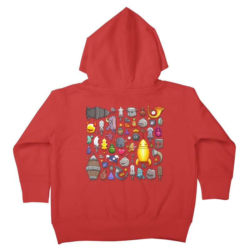 Knightmare Tower - Inventory Kids Toddler Zip-Up Hoody by The Juicy Beast shop!
