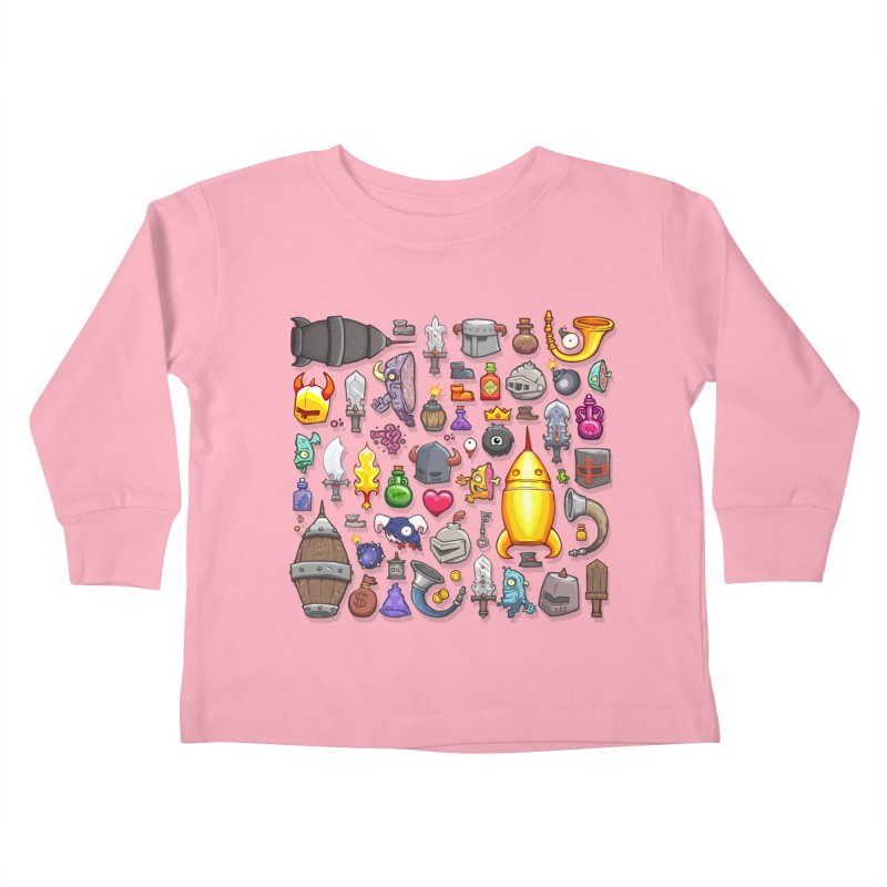 Knightmare Tower - Inventory Kids Toddler Longsleeve T-Shirt by The Juicy Beast shop!