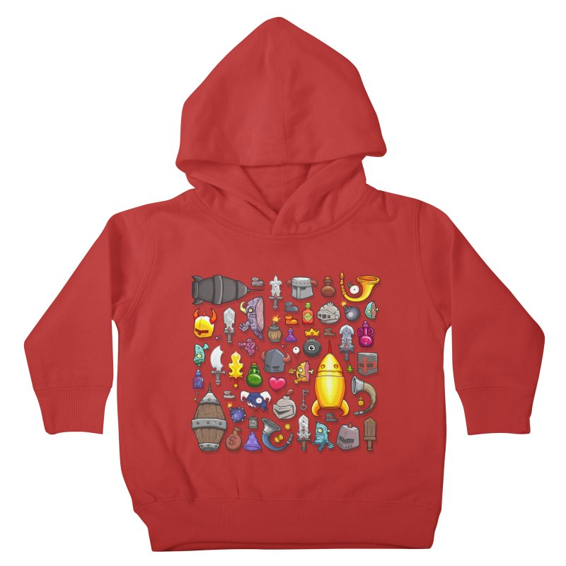 Knightmare Tower - Inventory Kids Toddler Pullover Hoody by The Juicy Beast shop!
