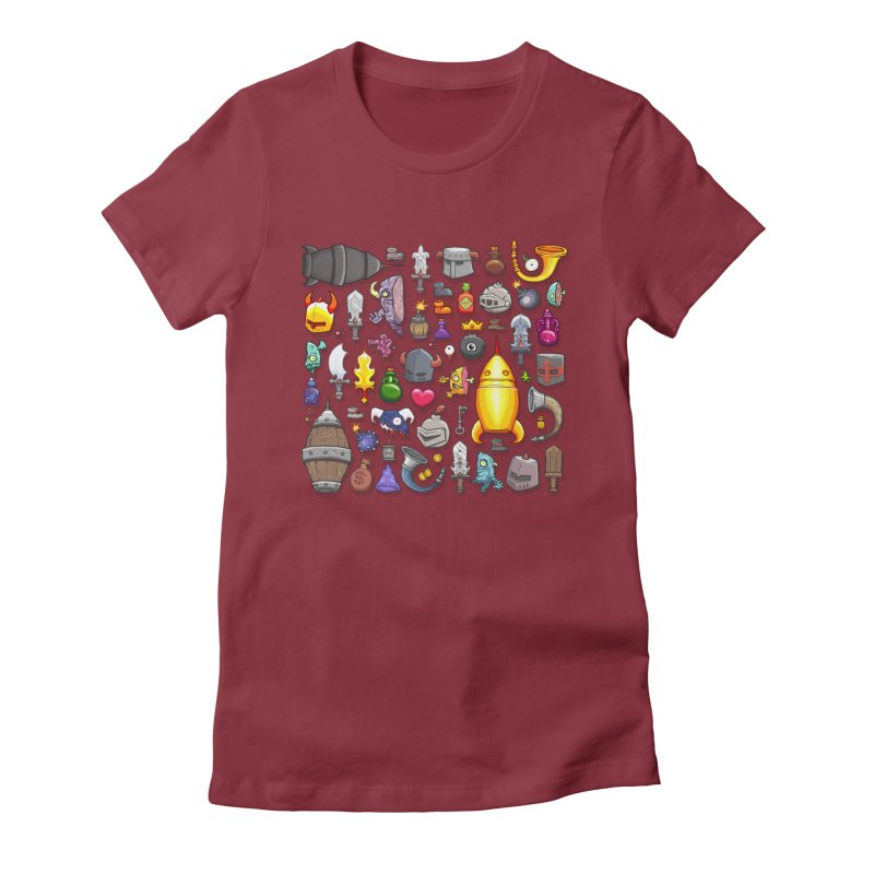 Knightmare Tower - Inventory Women's Fitted T-Shirt by The Juicy Beast shop!