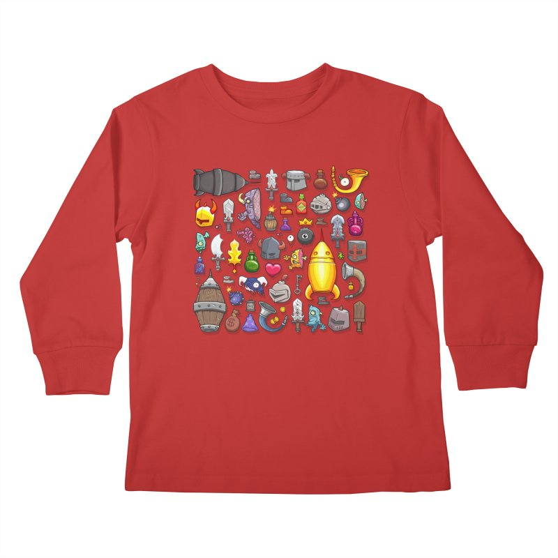 Knightmare Tower - Inventory Kids Longsleeve T-Shirt by The Juicy Beast shop!