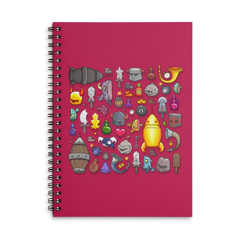 Knightmare Tower - Inventory Accessories Lined Spiral Notebook by The Juicy Beast shop!