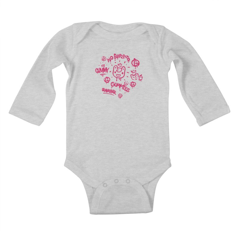 Burrito Bison - NO BURRITO Kids Baby Longsleeve Bodysuit by The Juicy Beast shop!