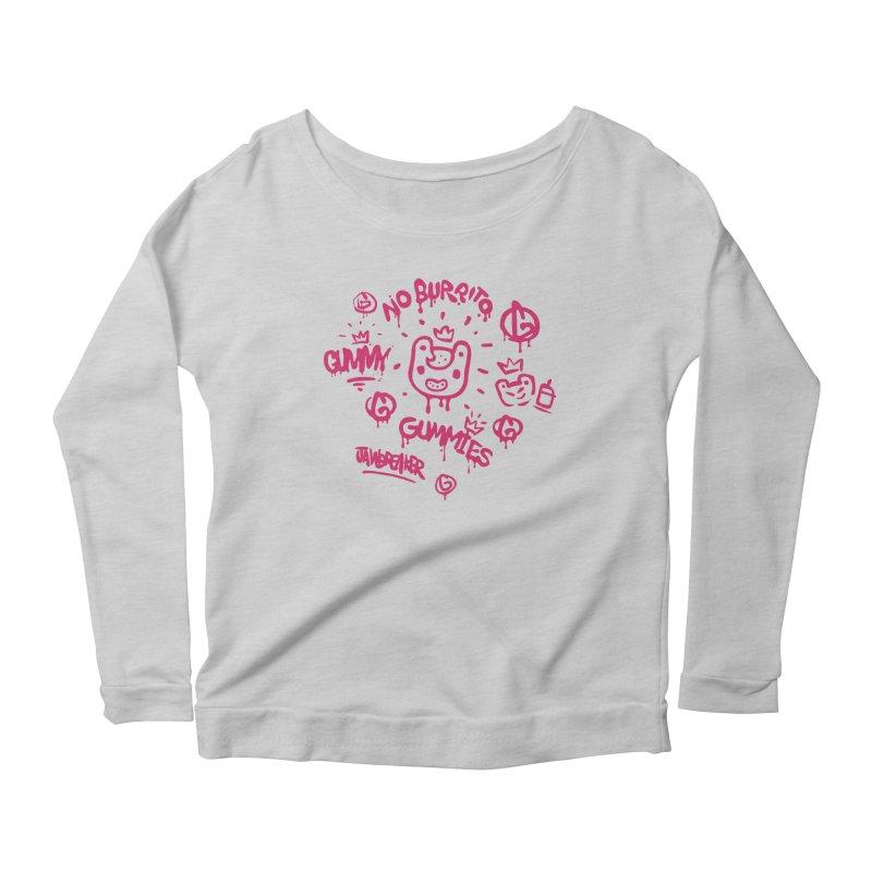 Burrito Bison - NO BURRITO Women's Scoop Neck Longsleeve T-Shirt by The Juicy Beast shop!
