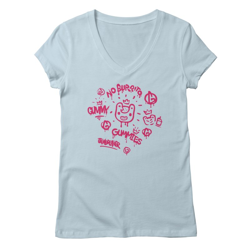 Burrito Bison - NO BURRITO Women's Regular V-Neck by The Juicy Beast shop!