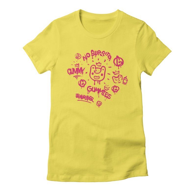Burrito Bison - NO BURRITO Women's Fitted T-Shirt by The Juicy Beast shop!