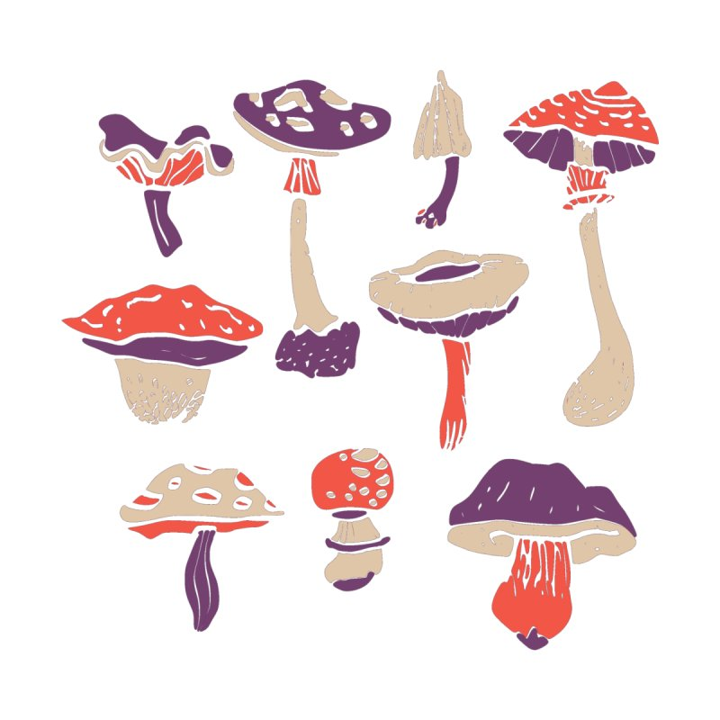mushrooms None  by julaika's Artist Shop
