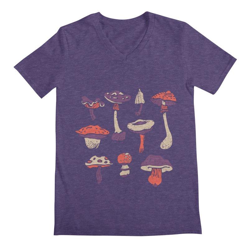 mushrooms Men's V-Neck by julaika's Artist Shop