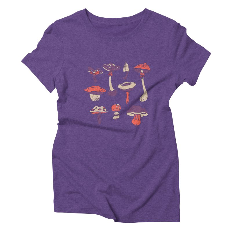 mushrooms Women's Triblend T-shirt by julaika's Artist Shop