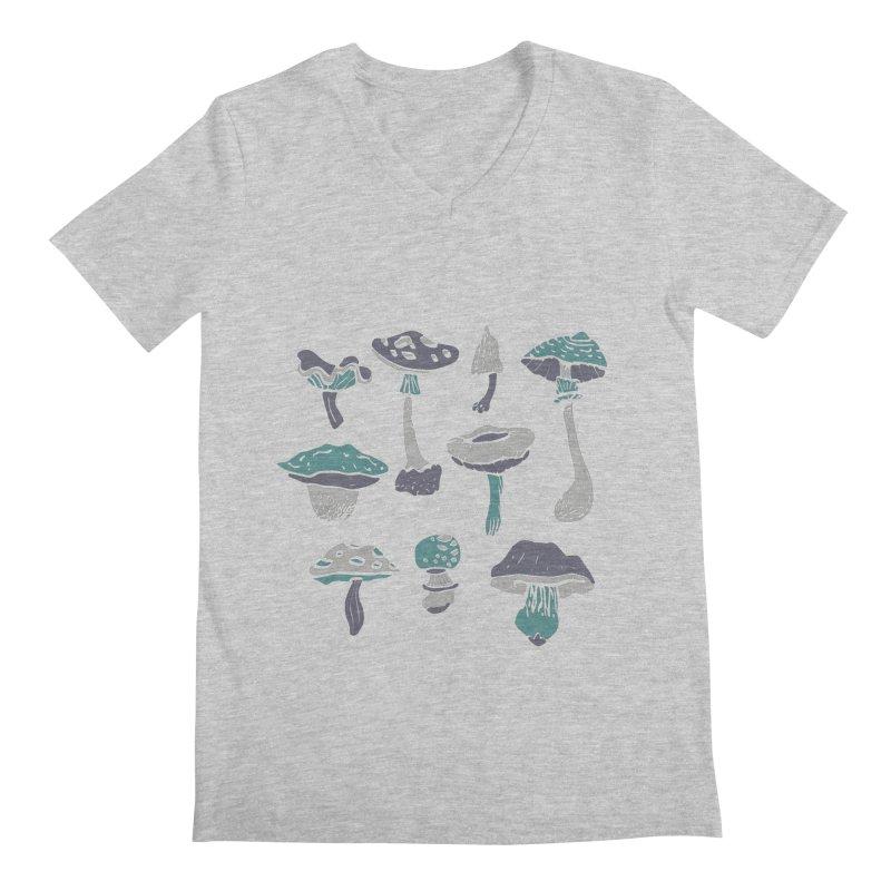 mushrooms II Men's V-Neck by julaika's Artist Shop