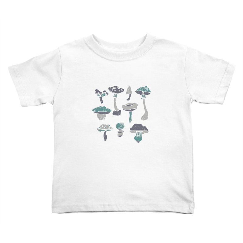 mushrooms II Kids Toddler T-Shirt by julaika's Artist Shop