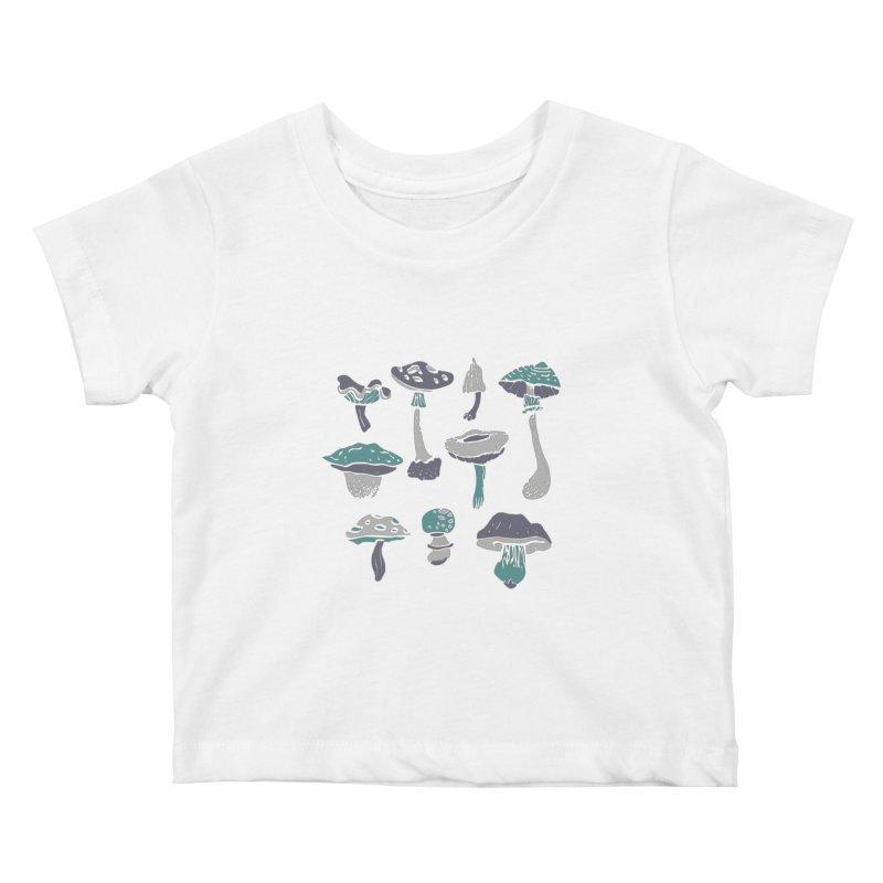 mushrooms II Kids Baby T-Shirt by julaika's Artist Shop