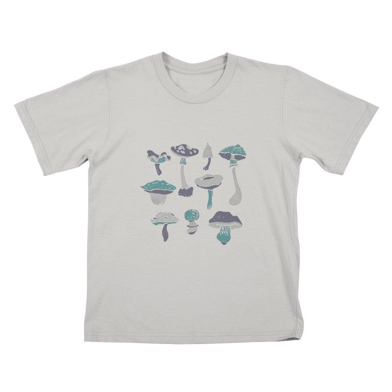 mushrooms II Kids T-shirt by julaika's Artist Shop