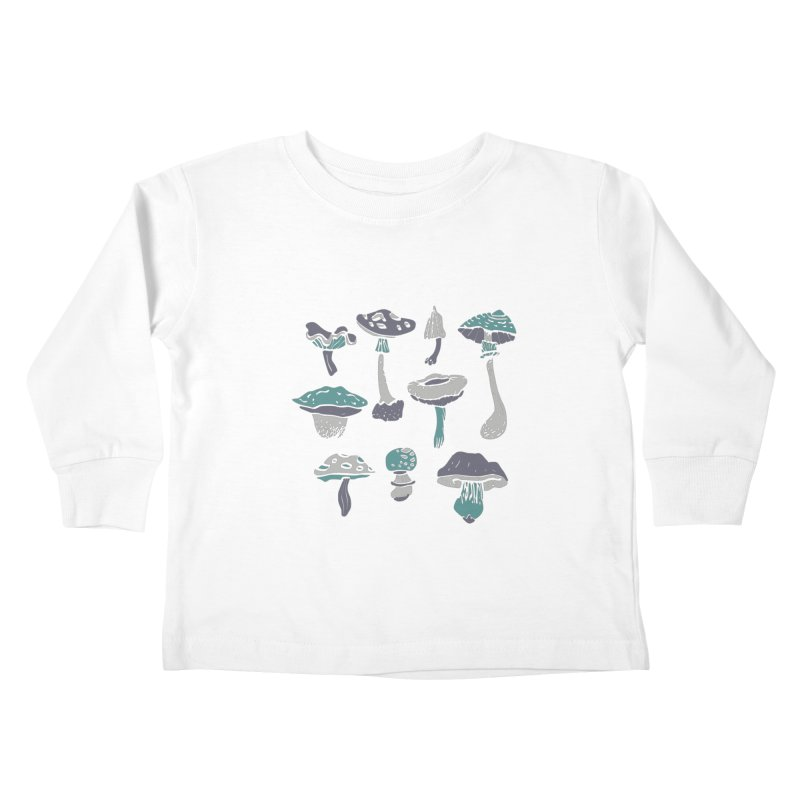 mushrooms II Kids Toddler Longsleeve T-Shirt by julaika's Artist Shop
