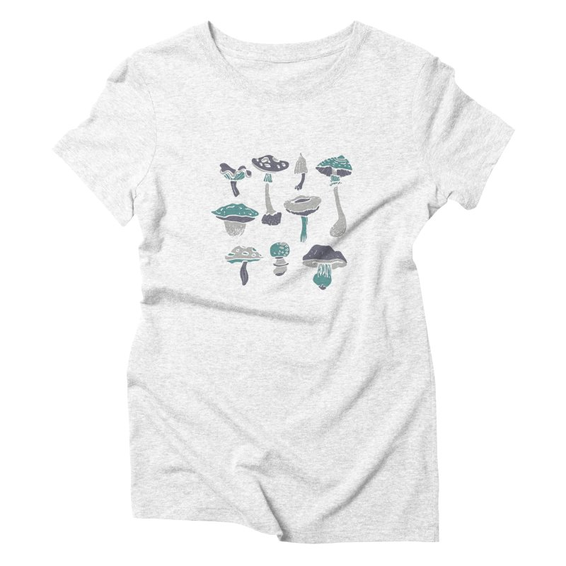 mushrooms II Women's Triblend T-shirt by julaika's Artist Shop