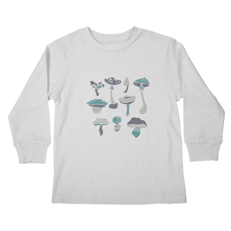 mushrooms II Kids Longsleeve T-Shirt by julaika's Artist Shop