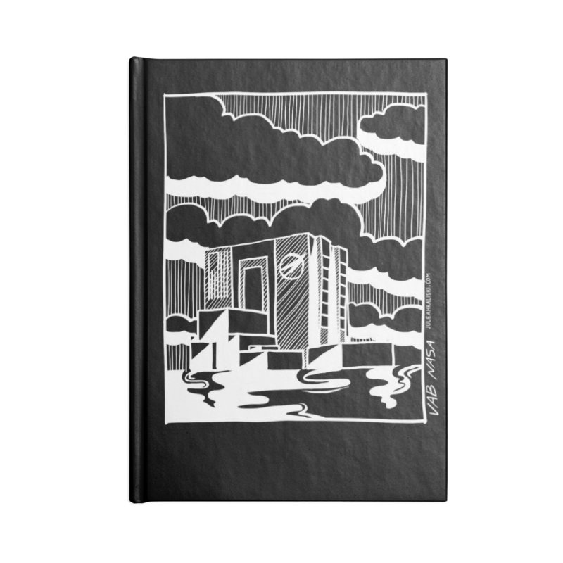 Vehicle Assembly Building NASA Accessories Lined Journal Notebook by Juleah Kaliski Designs