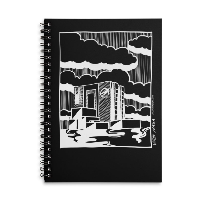 Vehicle Assembly Building NASA Accessories Lined Spiral Notebook by Juleah Kaliski Designs