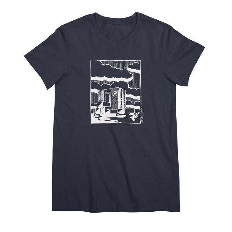 Vehicle Assembly Building NASA Women's Premium T-Shirt by Juleah Kaliski Designs